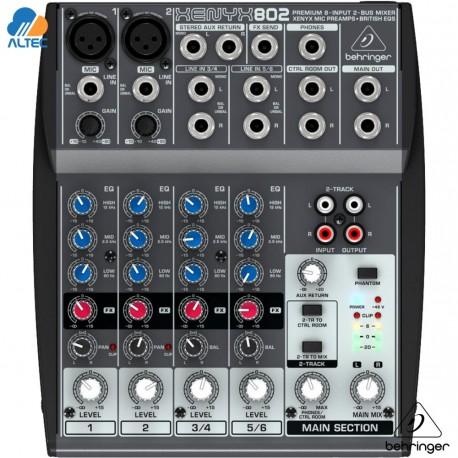 behringer xenyx 802 consola premiun de 8 canales. Black Bedroom Furniture Sets. Home Design Ideas